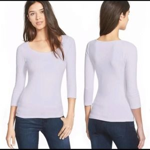 🌟3 FOR $35🌟Frenchi scoop neck purple tee